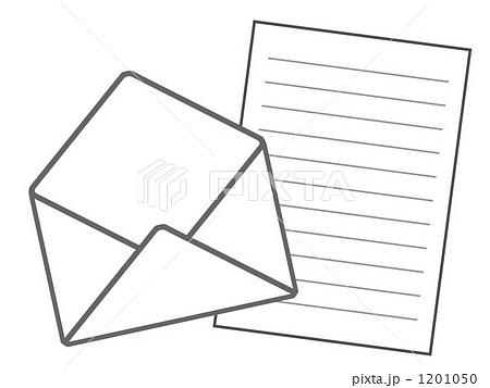 便箋 レターセット 手紙 イラスト素材のイラスト素材 Pixta
