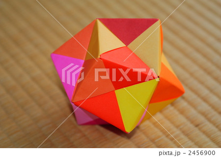 ハート 折り紙:折り紙 24面体-pixta.jp