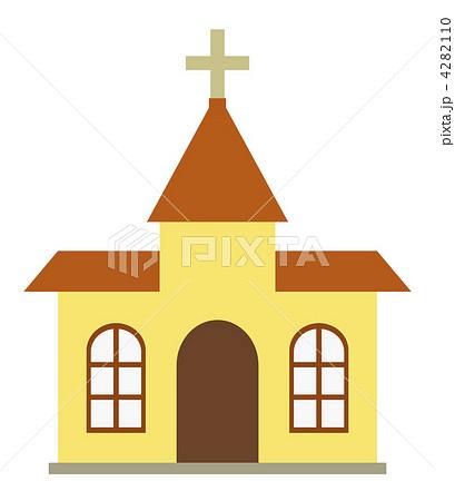 天主堂 かわいい クロス 宗教 十字 キリスト教 イラストの写真素材 Pixta