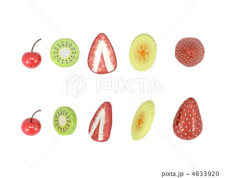 さくらんぼ 果物 断面 フルーツのイラスト素材 Pixta