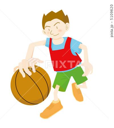 ビブス 動く 男性 真剣 イラスト バスケットボールの写真素材 Pixta