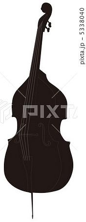 コントラバス 弦楽器のイラスト素材 Pixta