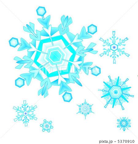 結晶 雪 クリスマス 顕微鏡のイラスト素材 Pixta