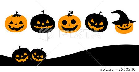 ハロウィン かぼちゃ おばけ ハロウィーンのイラスト素材 Pixta
