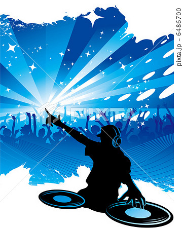 フェス シルエット イベント 踊る クラブ パーティーのイラスト素材 Pixta