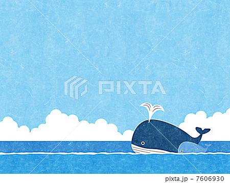 親子クジラのイラスト素材 Pixta