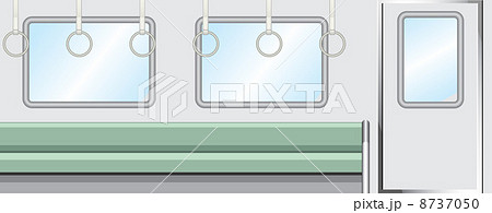 電車 車内 窓 ドアのイラスト素材 Pixta