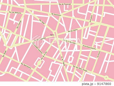 地図 マップ ベクター パリのイラスト素材 Pixta