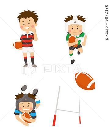 ラグビーボールのイラスト素材 Pixta
