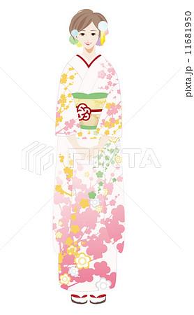 振袖ヘアスタイルのイラスト素材 Pixta
