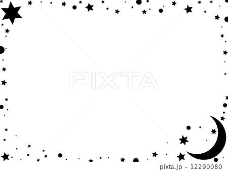 フレーム 星 月 結婚式 メッセージカードのイラスト素材 Pixta
