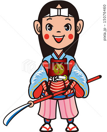 女武将 戦国時代 姫のイラスト素材 Pixta