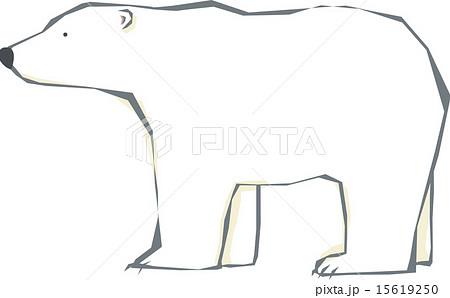 動物 哺乳類 ホッキョクグマ 白熊のイラスト素材 Pixta