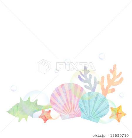貝 珊瑚 イラスト ヒトデのイラスト素材 Pixta