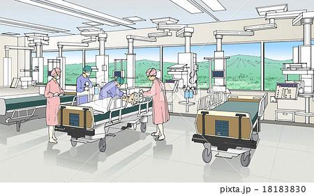 集中治療室のイラスト素材 - PIX...