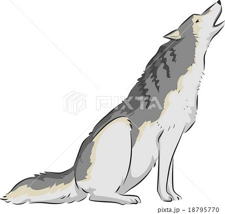遠吠え ベクター オオカミ アートワークのイラスト素材 Pixta