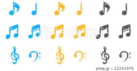 手書き風音符の写真素材 Pixta