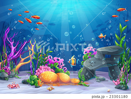 魚 アクアリウム 水族館 水槽のイラスト素材 Pixta