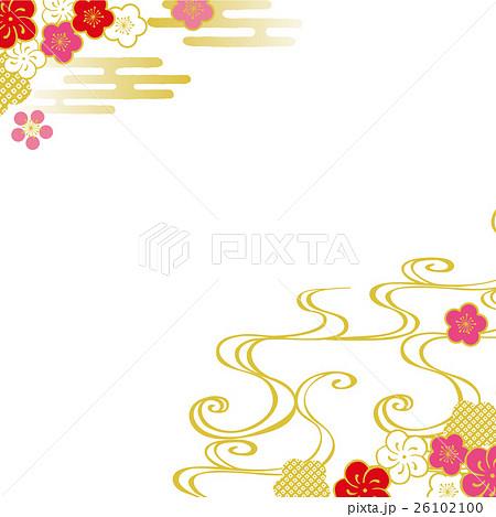 梅の花 背景イラスト