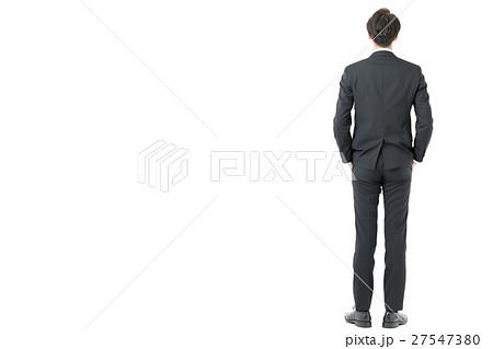 男性 ビジネスマン 後姿 スーツの写真素材 Pixta
