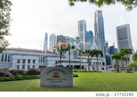 シンガポール国会議事堂の写真素...