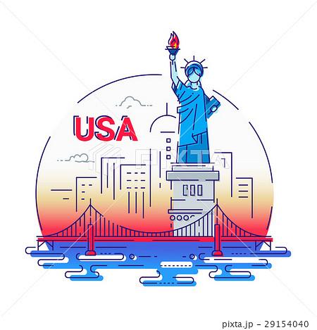ベクター アメリカ イラスト アメリカのイメージのイラスト素材 Pixta