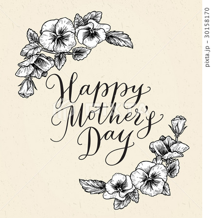 Happy mothers day card with text and frame of