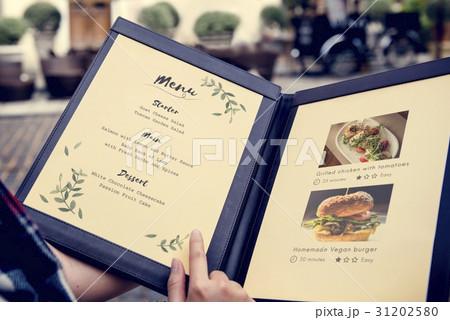 食品サンプル レストラン メニュー サンプルの写真素材 pixta