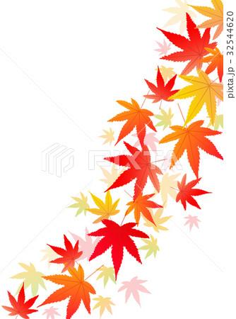 紅葉 もみじ 落ち葉 舞うのイラスト素材 Pixta