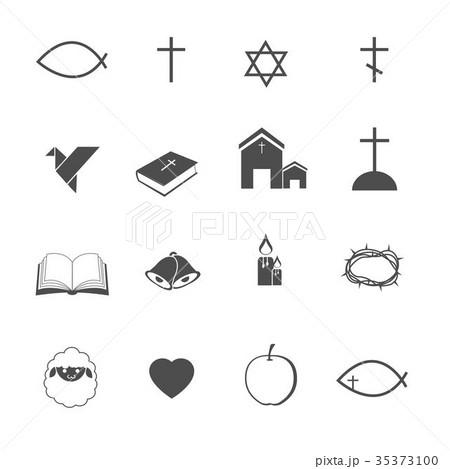 イエスキリスト キリスト教 リンゴ 林檎のイラスト素材 Pixta