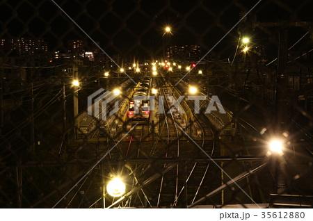 長野市総合車両センター 夜景
