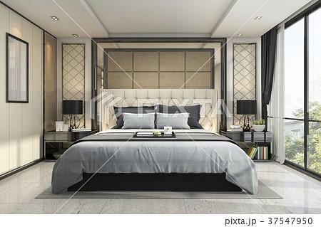 ベッドルーム 寝室 部屋 インテリアの写真素材 pixta
