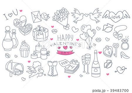 シャンパン グラス メッセージカード ウェディングのイラスト素材 Pixta