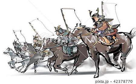 騎馬戦の写真素材