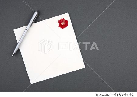 結婚式招待状 ボールペンの写真素材 Pixta