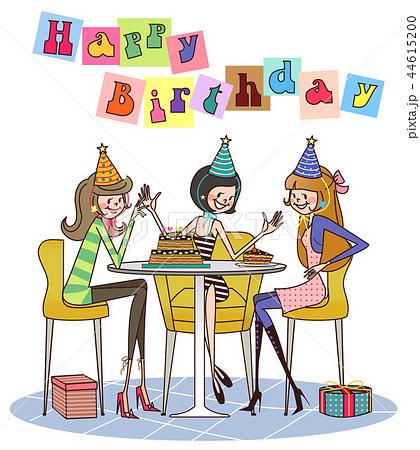 誕生日パーティーのイラスト素材 Pixta