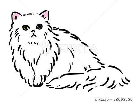 ペルシャ猫のイラスト素材 , PIXTA